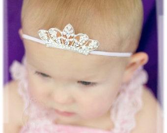 Silver Crystal Tiara Crown Embellishment