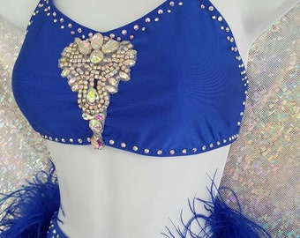 Jazz Dance Costume with Swarovski  BLING! Any color!