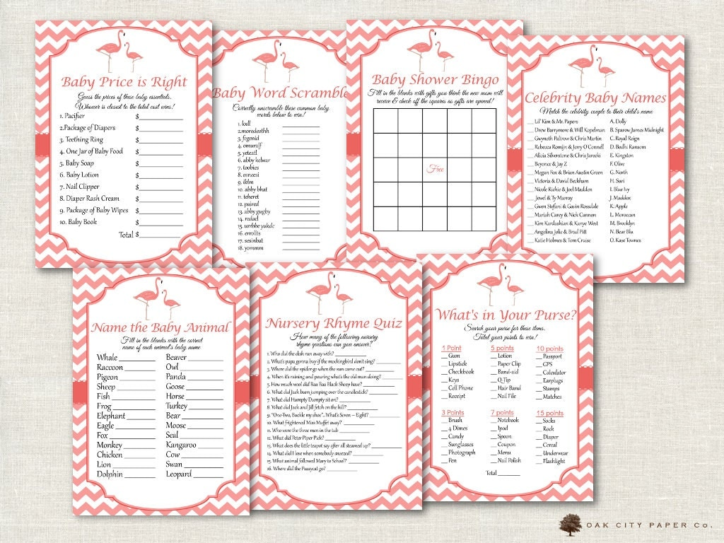 flamingo baby shower games flamingo shower games pink