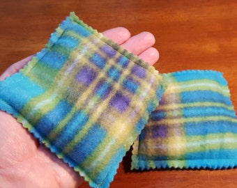 Handmade Rice Handwarmers or Heat and Cold Therapy Pair Microwaveable