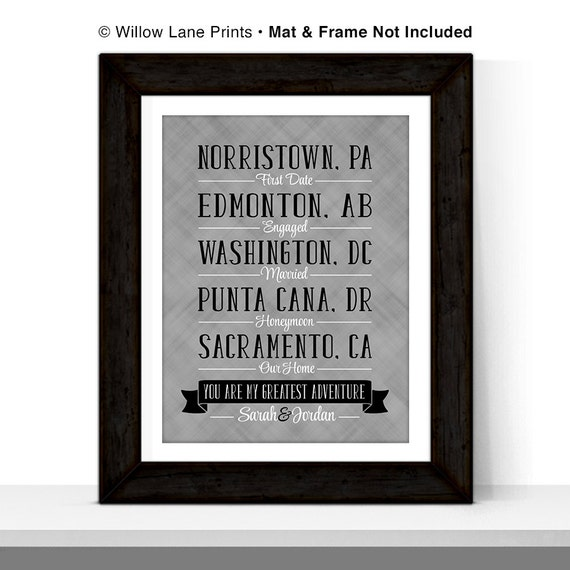 1st Wedding Anniversary Gifts For Men: Anniversary Gifts For Men Women First By WillowLanePrints