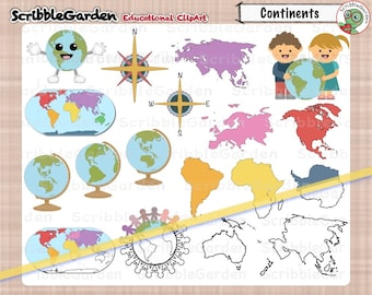 Geography Continents ClipArt