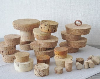Large Cork Stoppers, Selected sizes, Huge Lot Cork Stoppers, Storage Corks, Large Cork Collection @128 (lot 1 )