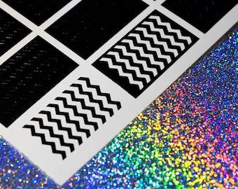 Chevron Pattern Nail Vinyls - Nail Decals - Nail Art - Nail Stickers - Zig Zag Stencils