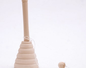 Blank wooden unpainted Cup-and-ball game, Wooden toy, bilboquet Free Shipping plus free gift!