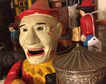 Bank, Circus Clown, Cast Iron, Perfect For Your Loose Change