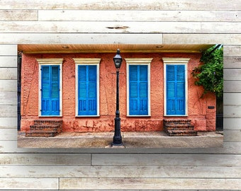 BLUE SHUTTERS - New Orleans art - French Quarter Doors - Architecture - Door Photography
