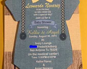 Baby Shower Invitations 6x8 inch