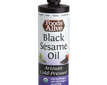 Organic Black Sesame Seed Oil (16 oz.)