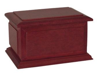 Boston Rosewood Wood Cremation Urn