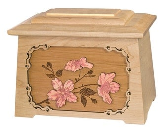 Maple Cherry Blossoms Astoria Wood Cremation Urn
