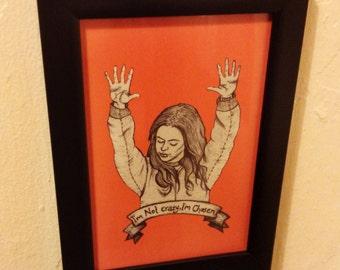 Pennsatucky Tiffany Doggett Orange Is The New Black Framed Print