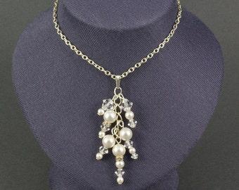 Pearl Icicle Pendant | Pearl Wedding Jewellery | Pearl Wedding Pendant | Winter Necklace | Winter Wedding Pendant | Christmas Jewellery