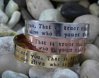 Dr. Seuss quote bracelet - Today you are you...
