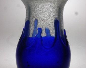 Czech art glass vase Jezek Skrdlovice