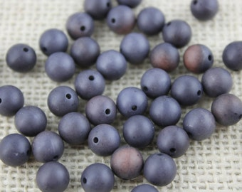Vintage Blue Denim 7mm Round Acrylic Beads (45 pieces)