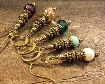 Boho Earrings, Moroccan Earrings, Drop Earrings, Dangle Earrings
