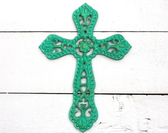 Iron Wall Cross - Decorative Wall Cross - Christian Wall Art - Religious Wall Decor - Christian Home Decor - Wall Accent -Unique Wall Cross