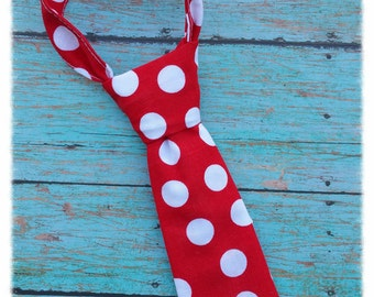 Polka Dot Baby tie, Baby Boy tie, Wedding, Family Picture, Photography Prop, Little Boy Ties - Boys