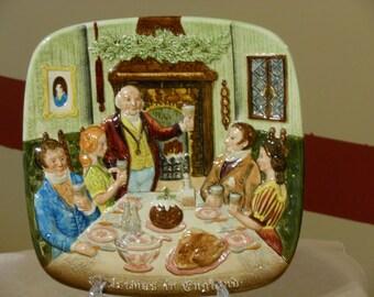 Christmas in England Collectors Plate. John Beswick, England. Royal Doulton. (1972)