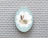 Magnetic Bunny Needle Minder for Cross Stitch, Embroidery, & Needlecrafts (18mmx25mm with Strong Magnet)