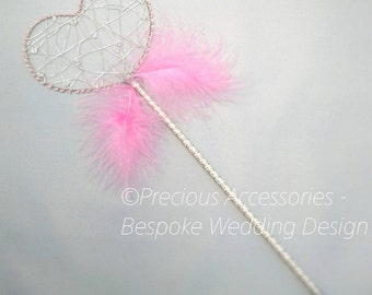 Wedding Heart fairy wands, perfect for flower girls, bridesmaids, made to order, wedding accessories, bridal, brides