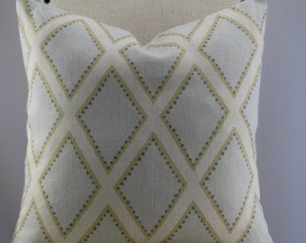 Brookhaven Opal fabric by kravet pillow cover, accent pillow, decorative pillow, throw pillow,same fabric front and back.