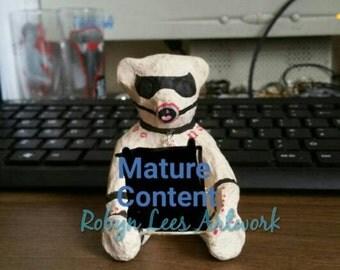 Bondage teddy bear ornament