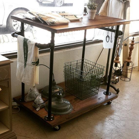 Industrial Bar Cart Bar Cart Kitchen Cart Serving Cart: Industrial Kitchen Cart Bar Cart Serving By MaverickIndustrial