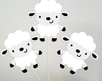 Lamb Centerpieces, Lamb Baby Shower Centerpieces, Lamb Birthday Centerpieces