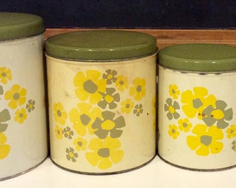 Retro canisters | Etsy