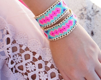 Ibiza bracelet - woven bracelet - braided friendship bracelet - 1 pc