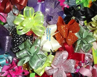 Puppy Bows ~NEW COLORS of Party puffs dog grooming bows all colors