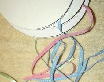 "Puppy Bows ~ ribbon craft supplies  1/4"" pink grosgrain blue grosgrain mint satin 20-80 yards each"