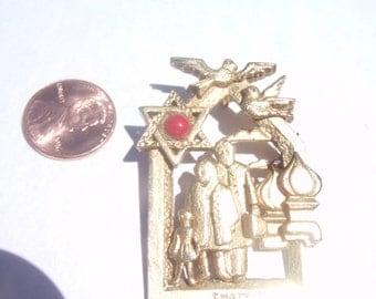 Vintage Chaim Gross Brooch / Pin / Jewish Brooch / Pin / Jewish jewelry / Hebrew brooch / Pin / Israel brooch / Pin / Israel Jewelry