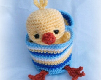 Easter-Buddies Chick; CROCHET PATTERN; PDF