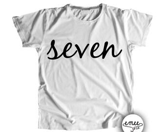 7 Birthday Shirt 7th Birthday Shirt Seven Shirt