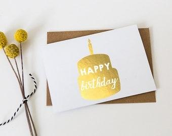 Gold Foil Card // Happy Birthday