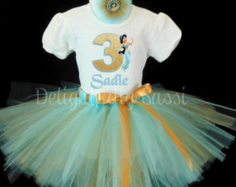 Jasmine Birthday Tutu, Disney Princess Tutu Set, Birthday Tutu, Disney Princess, Aladdin, Tutu Set