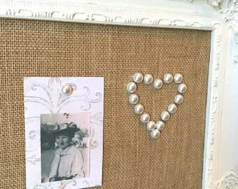 Decorative thumb tacks - 12pc - white pearl - cork board push pins