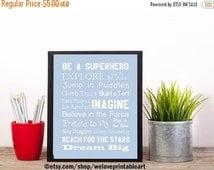 60% OFF SALE Superhero Baby Boy Nursery Decor Nursery Art Print Unique Baby Gift Ideas Printable Art Digital Instant Download