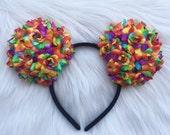 Rainbow Floral Mouse Ears