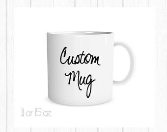 custom mug mug monogram mugcustom gift birthday gift