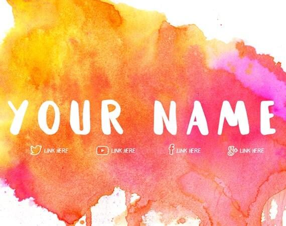 watercolor youtube blog web banner    custom