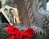 Chunky Knit Blankets in Beautiful Medium Grey!  Free Shipping in the USA.