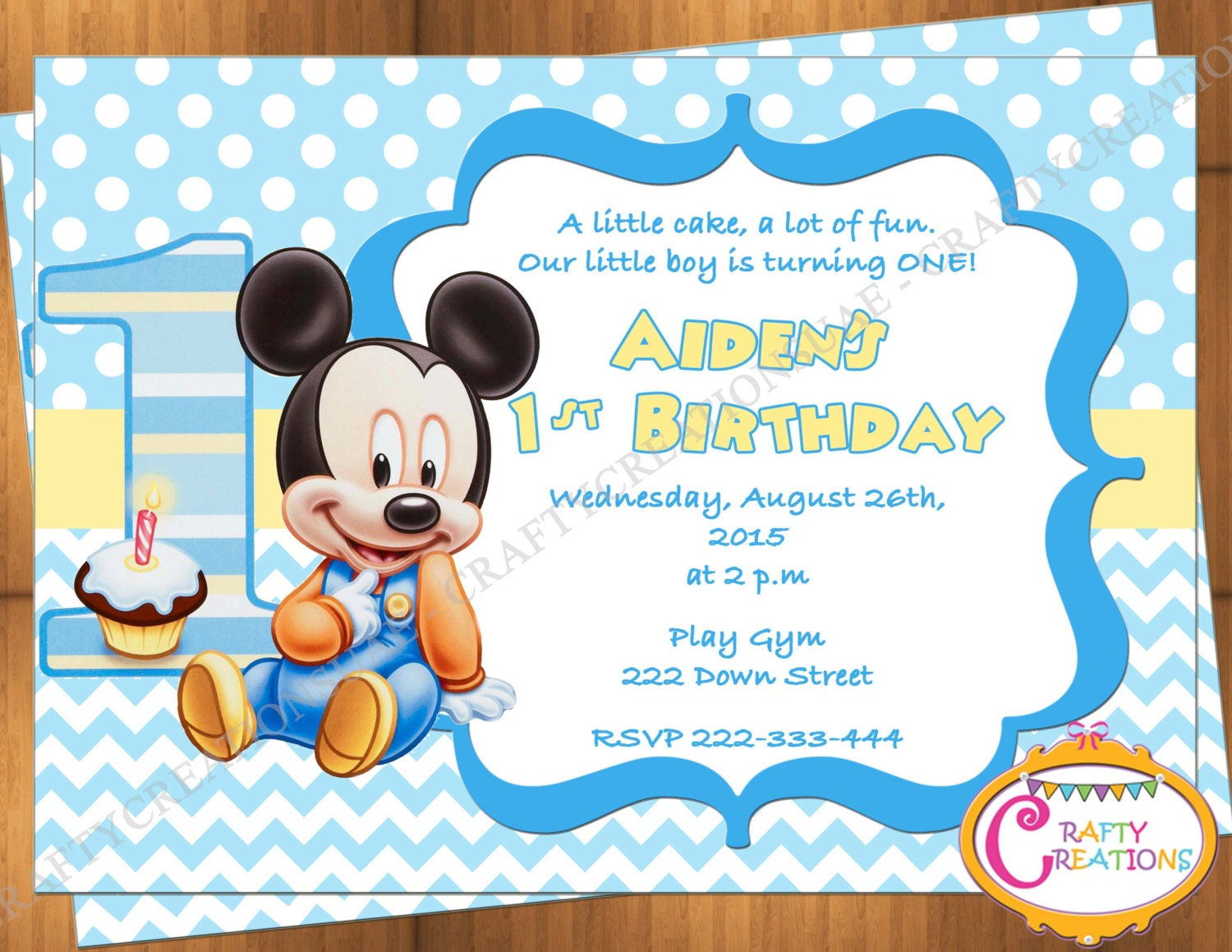 It's just a picture of Gargantuan Free Printable Mickey Mouse 1st Birthday Invitations