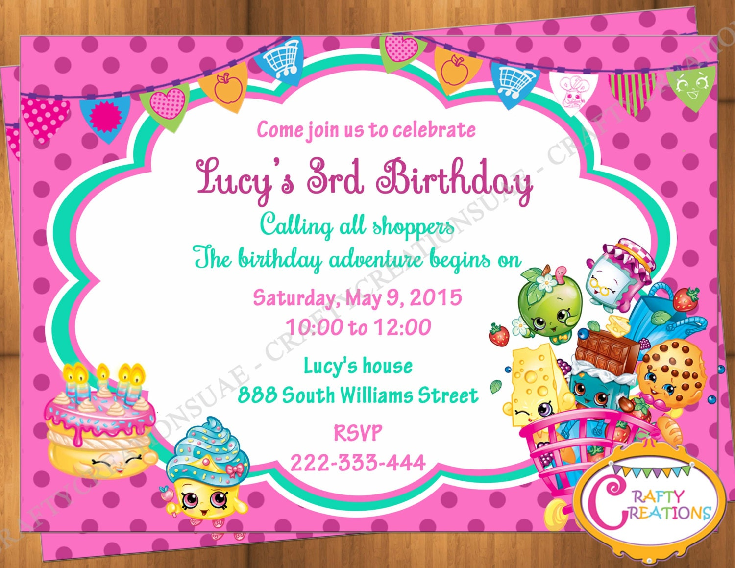 It's just a graphic of Epic Shopkins Printable Invitations