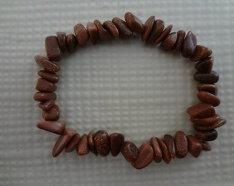 Brown Goldstone Stretch Bracelet