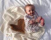 Crochet Baby Heart Blanket, Afghan, Play Mat, Girls, Boys, Gender Neutral, Newborn, Photography Prop, Baby Blanket