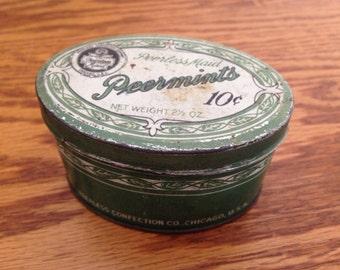 Peerless Candy Peppermint tin